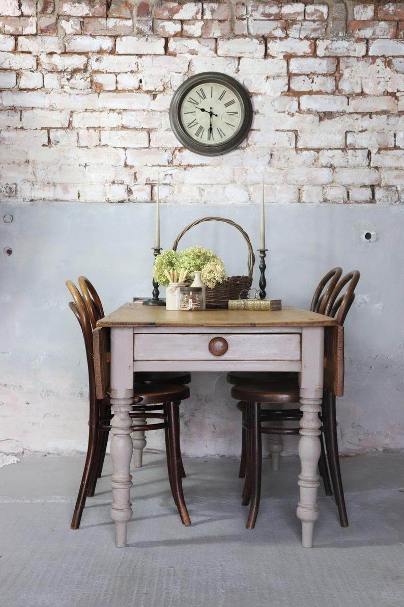 eclectic vintage dining furniture