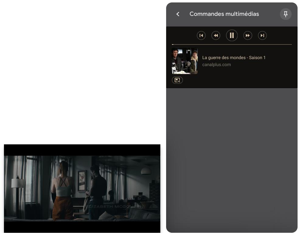 Fonction PIP dans le lecteur multimédia de Chrome OS
