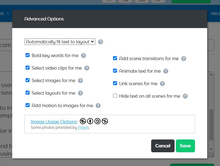 Vidnami-advanced-options