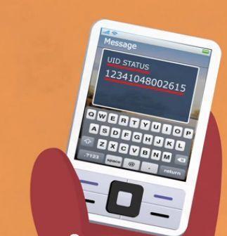 aadhar card status sms type