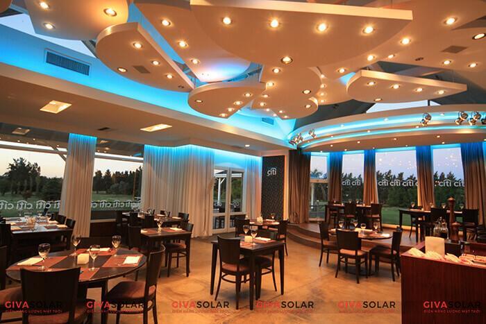 Lựa chọn đèn trang trí cho nhà hàng cao cấp