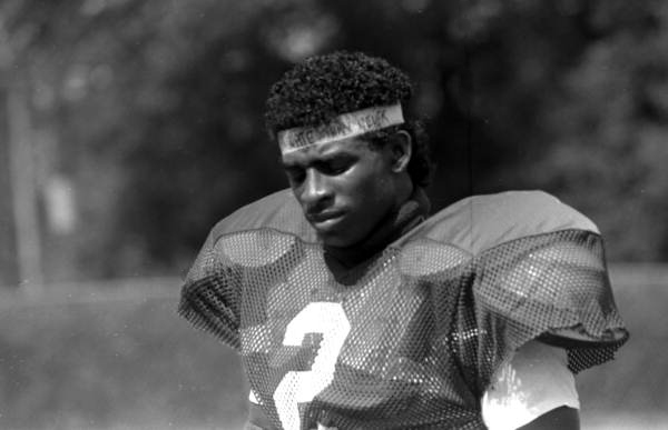 Deion Sanders playing football for Florida State