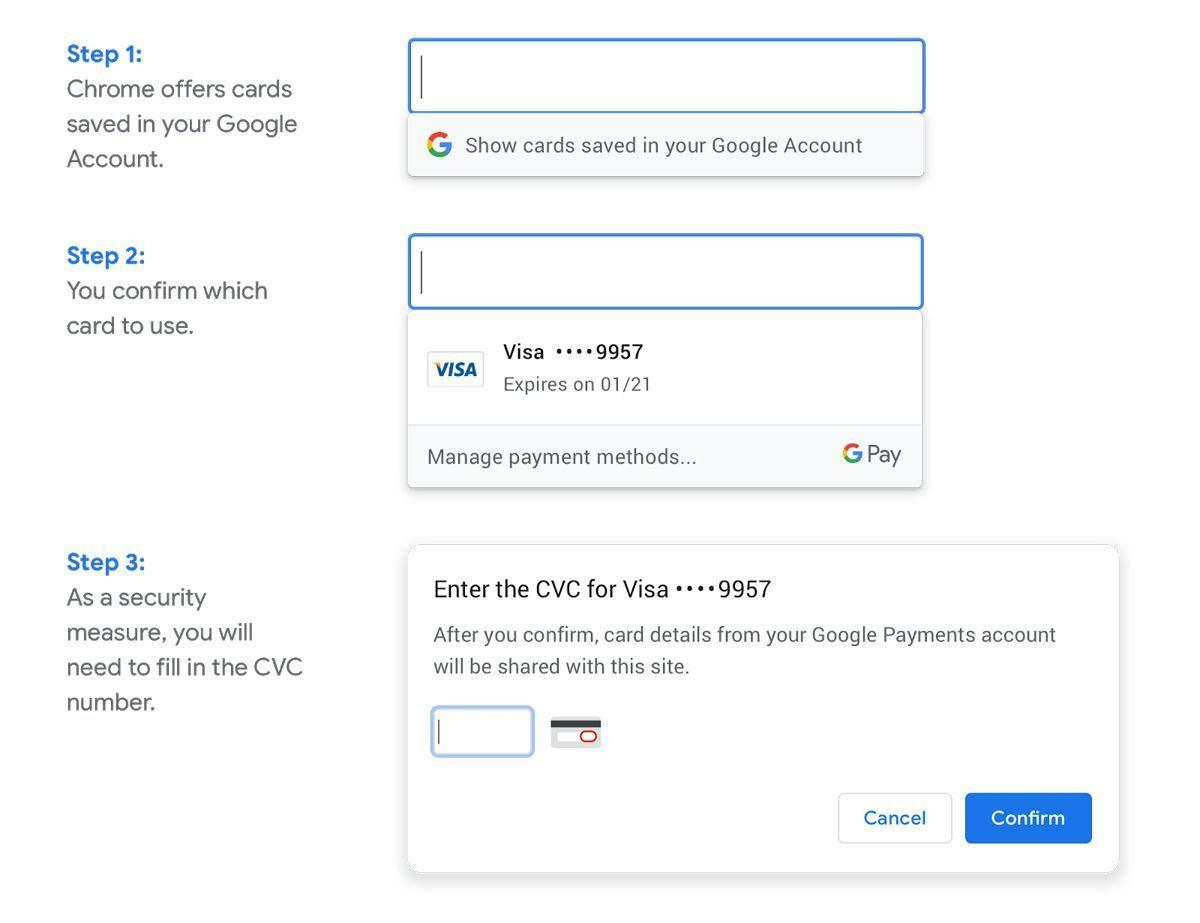 Image result for Chrome autofill card details without syncing browser