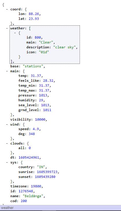 Weather app Javascript
