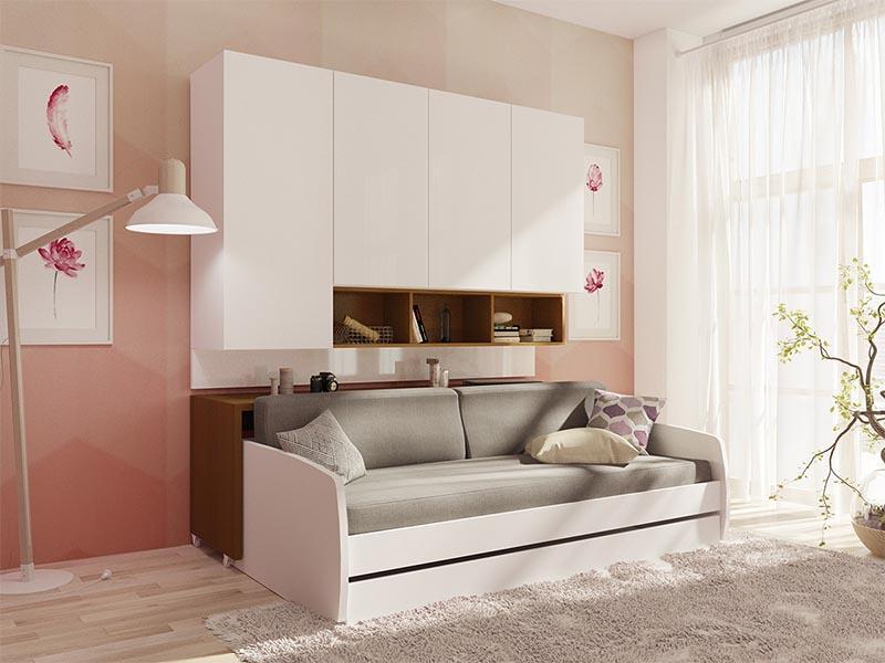Giường gấp đa năng tại căn hộ mini