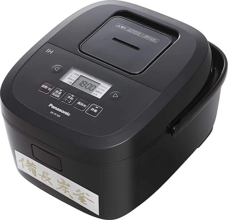 パナソニック 炊飯器 備長炭釜 ブラック SR-FE109-K
