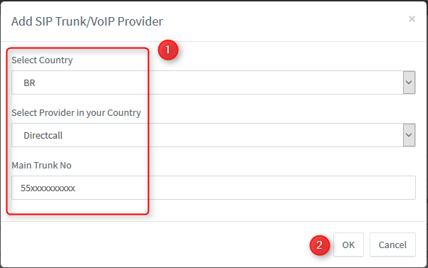 Configuration Guide for Directcall Brazil SIP Trunk with 3CX V15 5