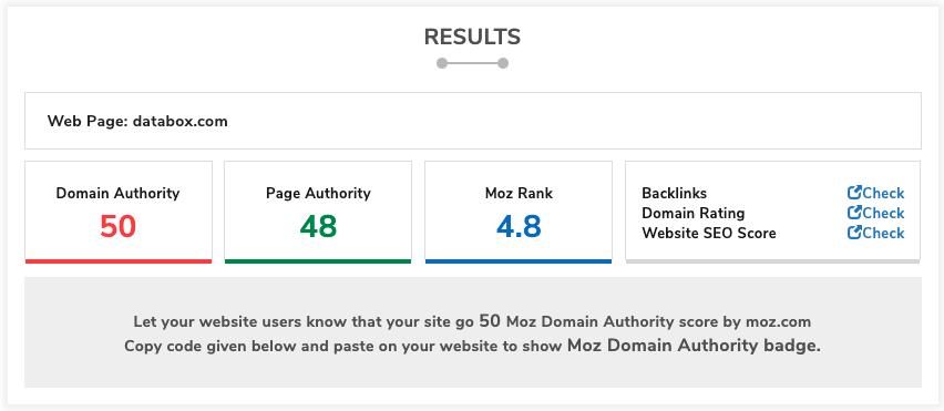 SmallSEOTools Domain Authority Checker
