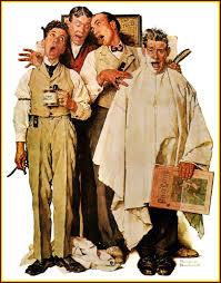 Barbershop Quartet Norman Rockwell