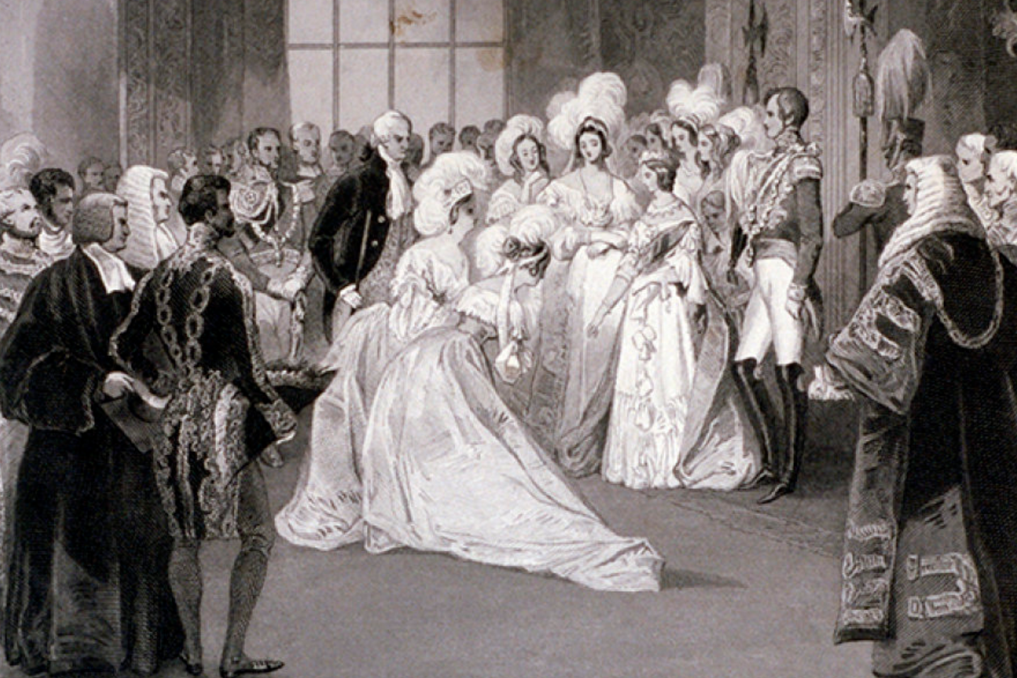 In Victorian England, girls were presented at court.