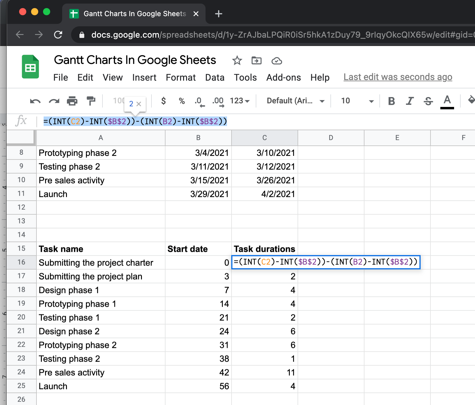 column calculations in sheets