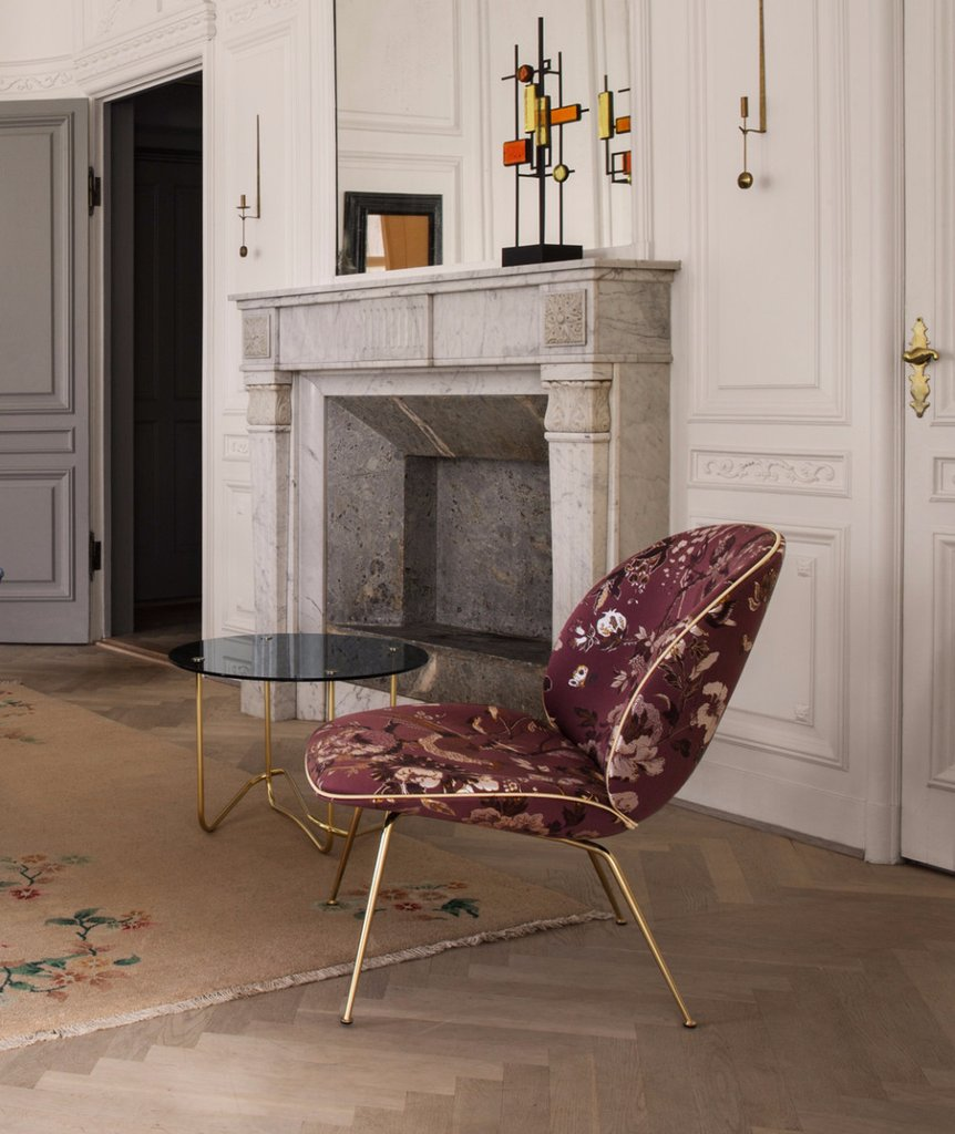 2019 spring design trends in Calgary interior design: gubi beetle chair