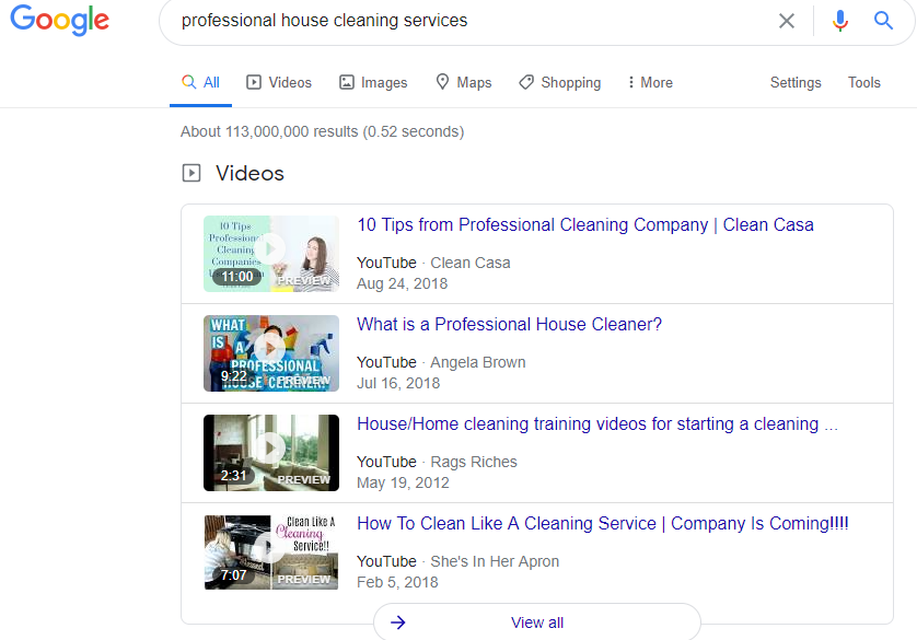 Search Result for Professional House Cleaning Services