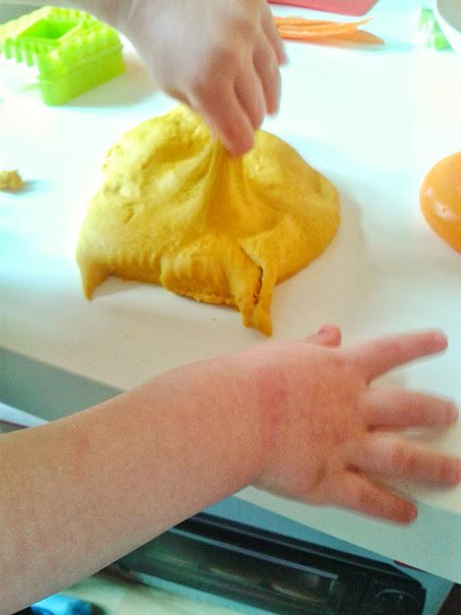 Welcome to Mommyhood: homemade orange play dough