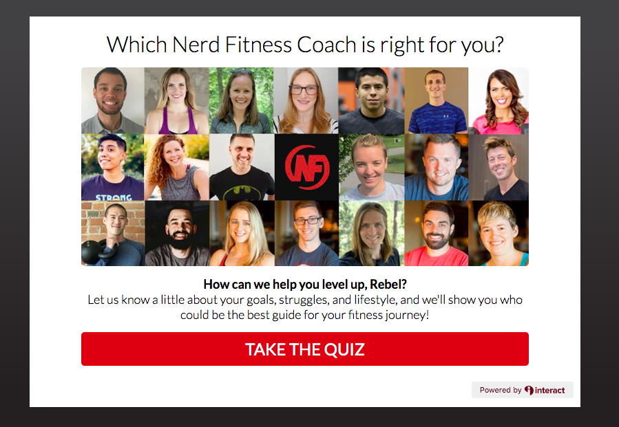 Which Nerd Fitness Coach is right for you? quiz cover