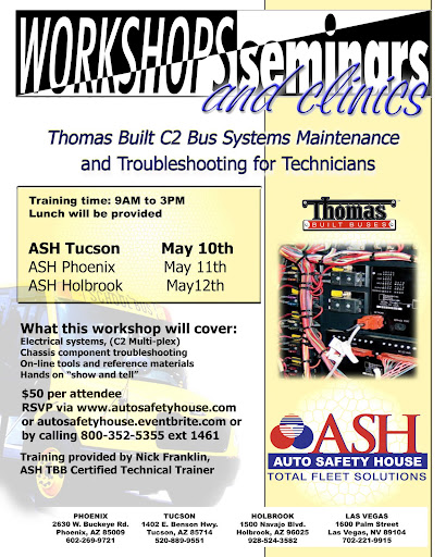 Thomas Built C2 Bus Systems Maintenance and Troubleshooting for Technicians Flyer