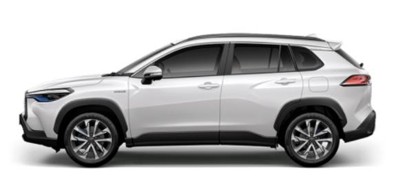 รถยนต์ Toyota Corolla Cross สีขาว Platinum White Pearl