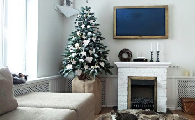 Decorating an apartment for the New Year