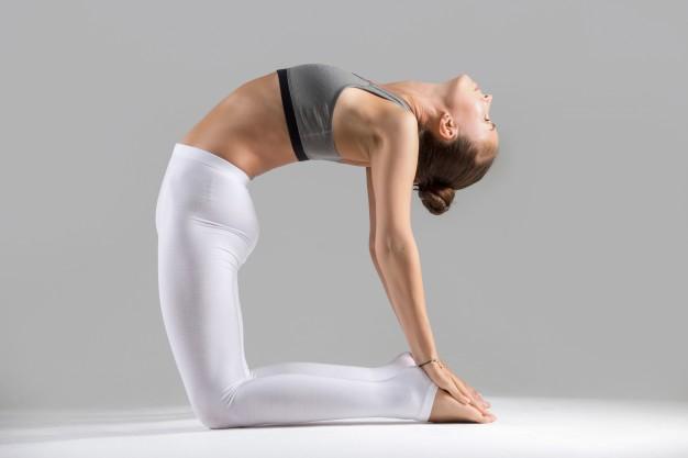 Tư thế lạc đà Ustrasana - Bài tập yoga giảm béo bụng