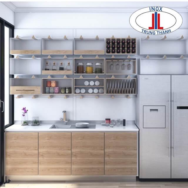 Tủ bếp gia đình cần chú ý lựa chọn màu sắc, kích thước theo tiêu chuẩn