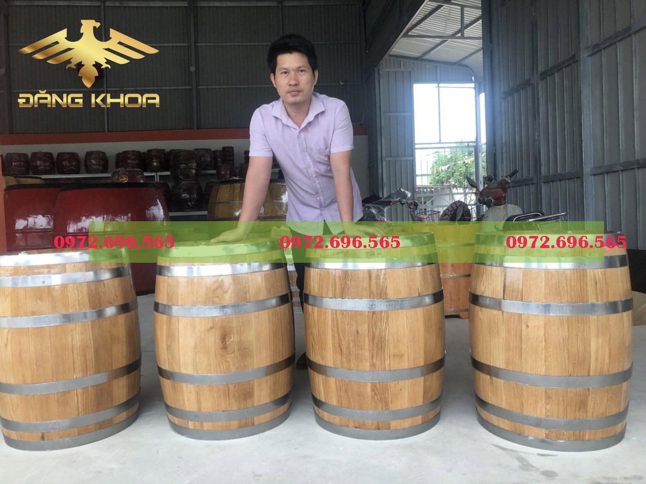 Tùy kích thước, dung tích thùng gỗ sồi có giá khác nhau