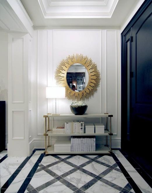 Hang A Sunburst Mirror At The End of The Hallway