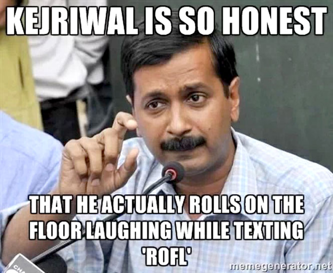Funny Meme Rhymes : If you're as honest as kejriwal these memes will have you rotfl