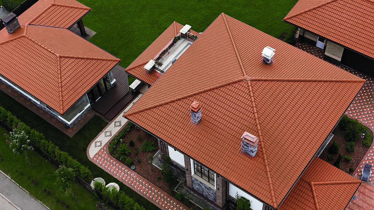 какие бывают крыши домов фото