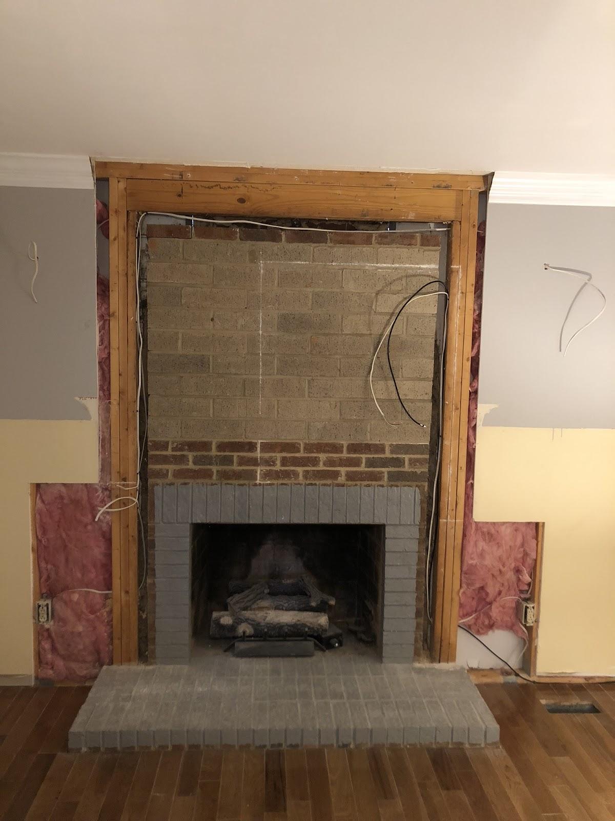 can you shiplap a fireplace