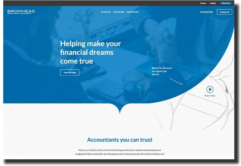 Bromhead web design Accounting Website Design