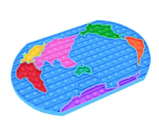 POP It de Mapa Mundi