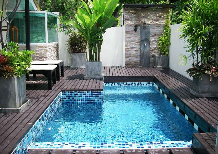 Xây bể bơi ngay tại sân sau nhà