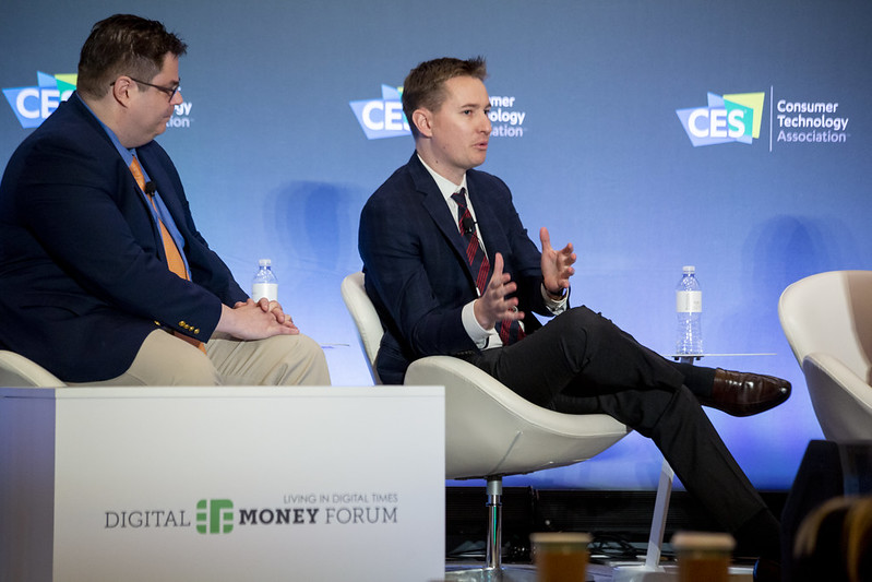 Tom Maxon discusses the need for regulations at the Digital Money Forum at CES 2020.