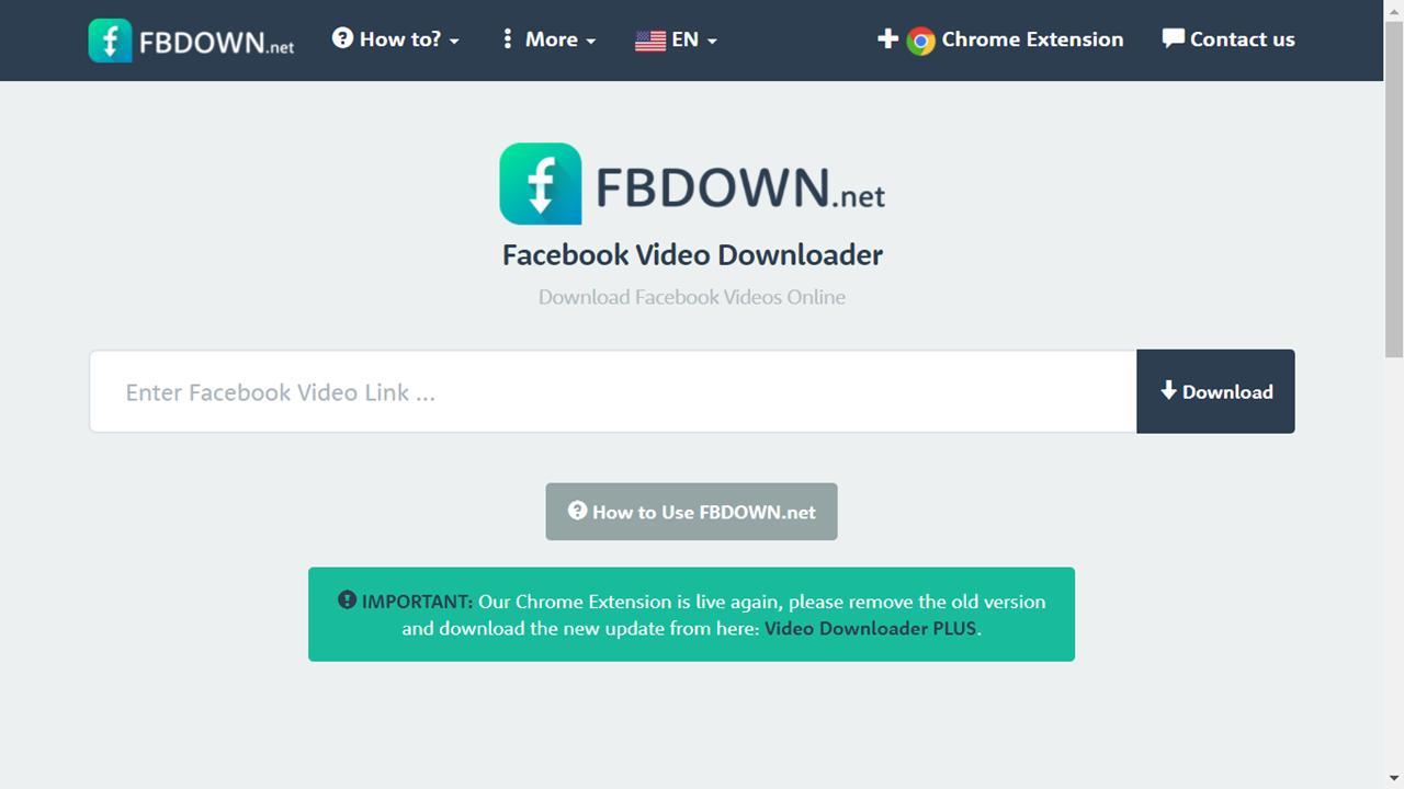 FBdown 平台下載FB影片
