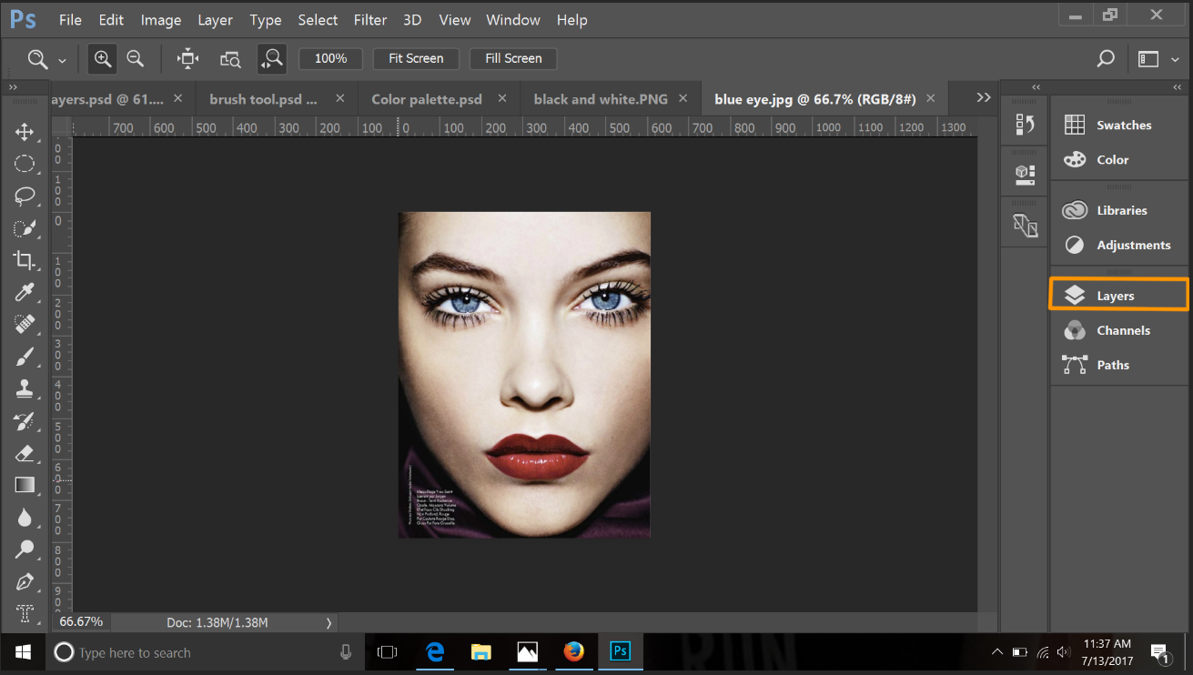 Photoshop tutorial how to add color to the key parts of a black and 3 click the half shaded circle icon at the bottom of the layers popup window baditri Image collections
