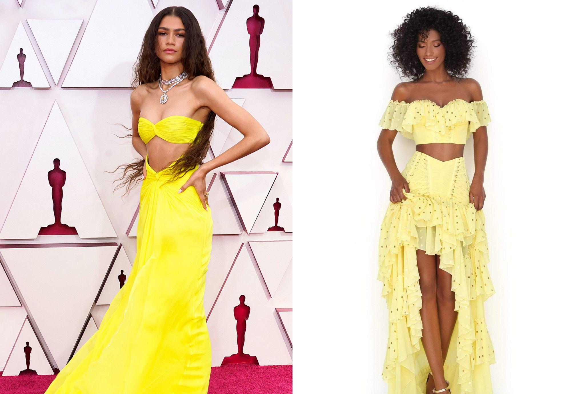 yellow Valentino gown