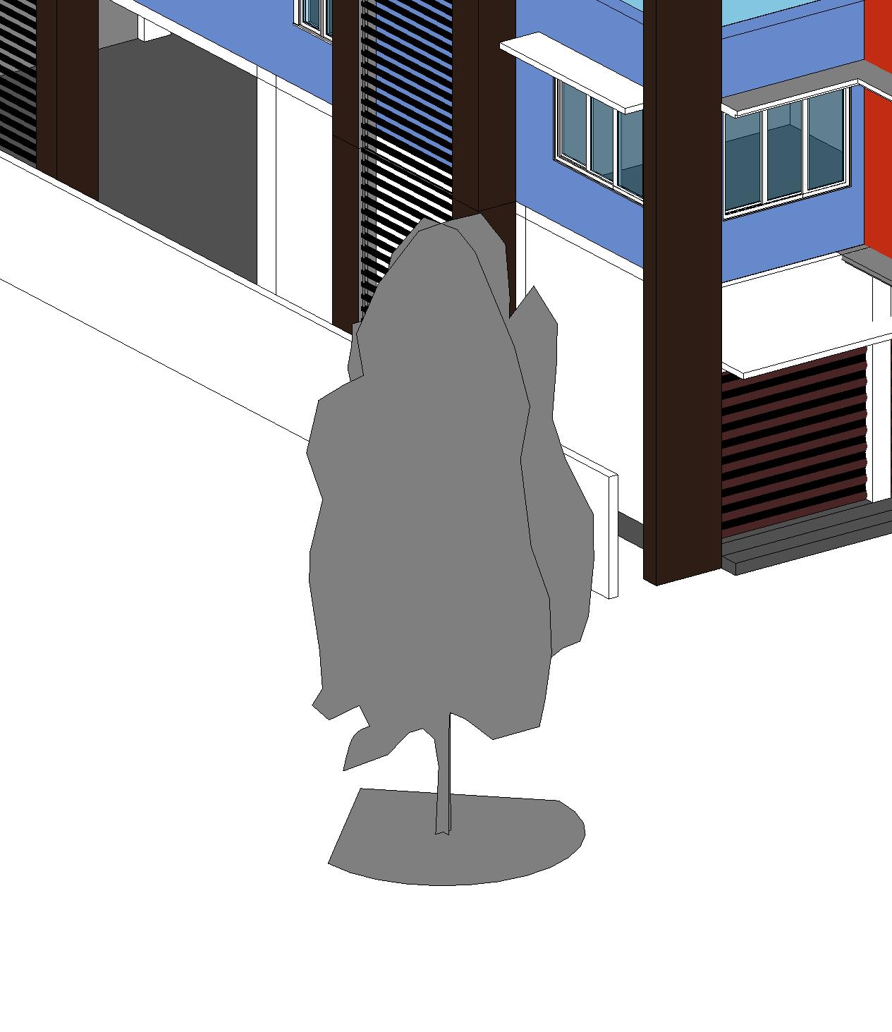 The standard tree representative in Revit