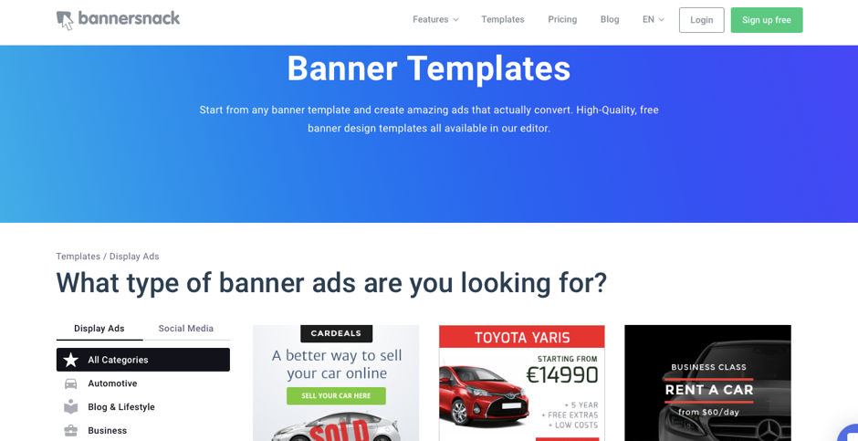Marketing tools - Bannersnack