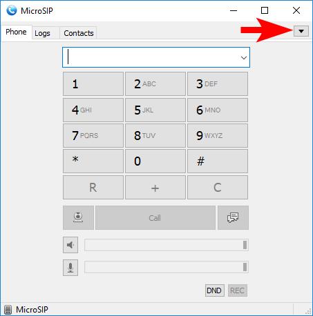 MicroSIP Settings HotTelecom