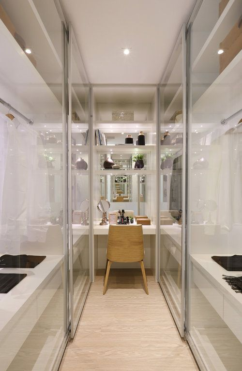 Small Walk-in Closet Ideas with Vanity