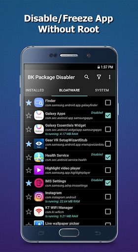 BK Package Disabler (Samsung)- screenshot thumbnail