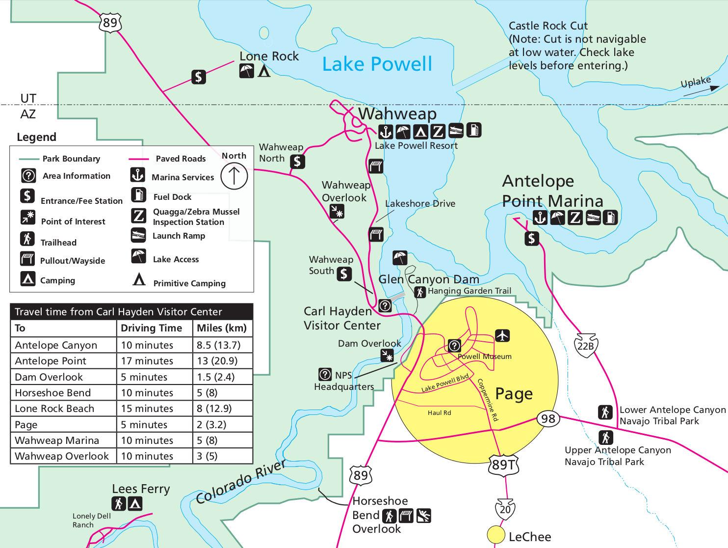 Map of Horseshoe Bend