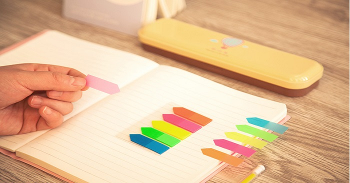 Giấy note 5 màu nhựa Lucky Bamboo