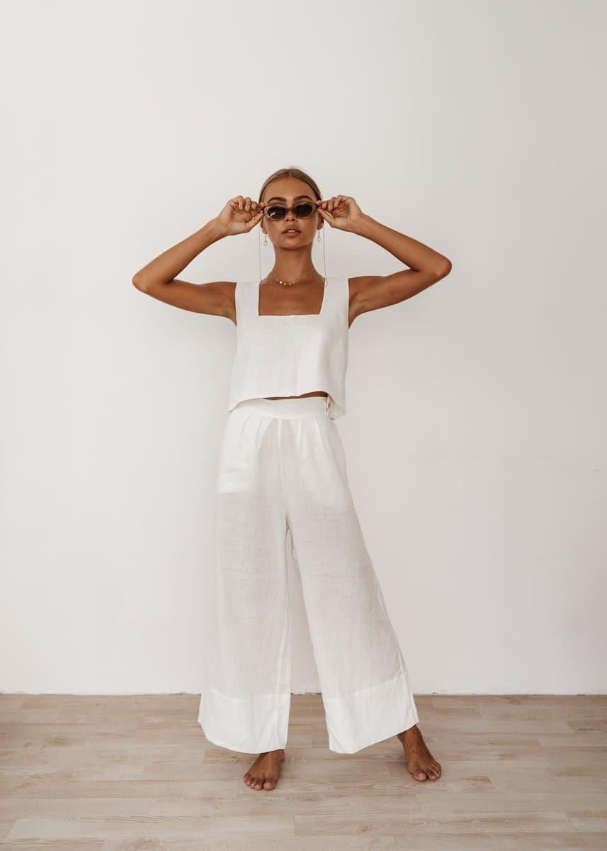 Monaco Pants in White