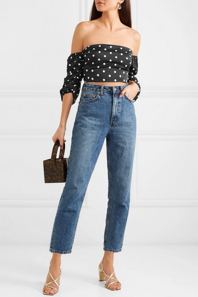 crop tops  polka dot