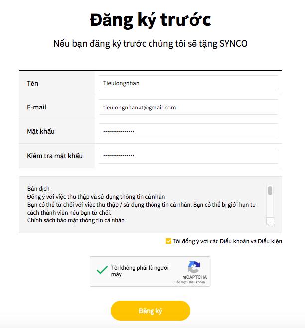 Hướng dẫn đăng ký giao dịch giao dịch StringB