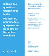 Feuillets bleus Alloprof - Pour les élèves du secondaire