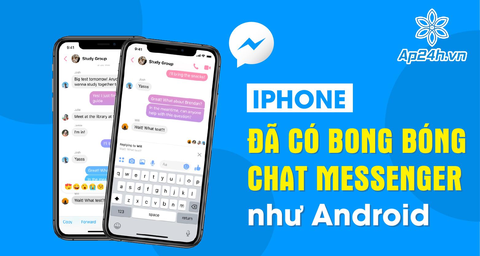 Bong bóng chat Messenger trên iPhone