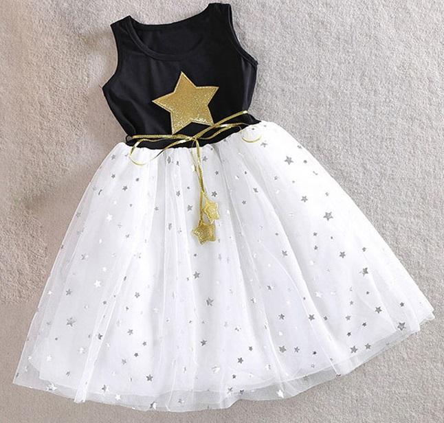 Sukienka w gwiazdki dla dziewczynki