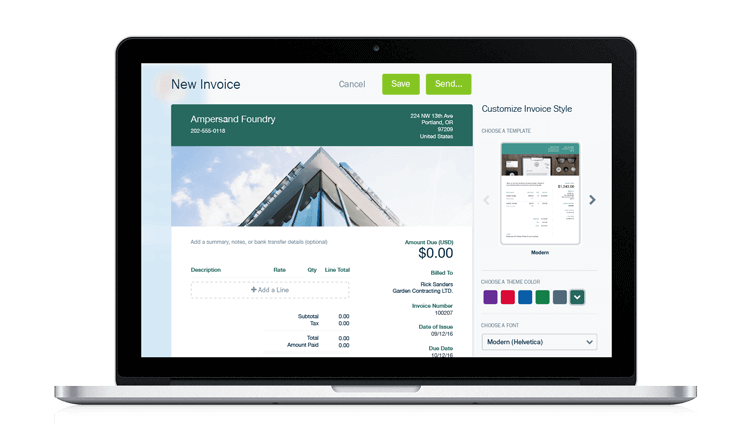 Top Saas Software for accounting - freshbooks